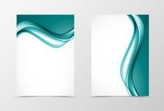 Front and back soft design flyer template stock illustration