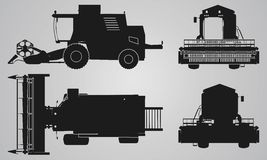 Front, back, top and side combine projection Royalty Free Stock Photo