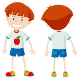 Front and back view of a boy Royalty Free Stock Image
