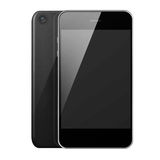 Front and back view of mobile smart phone with blank screen . Royalty Free Stock Photos