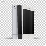 Front and back view of phone Royalty Free Stock Photos