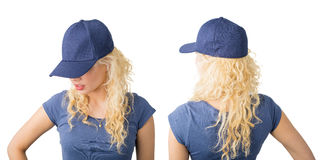 Front and back view of snapback Royalty Free Stock Photos