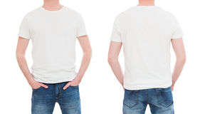 Front and back view tshirt template. Stock Image