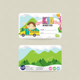Front And Back VIP badine le calibre de carte de membre Illustration Stock