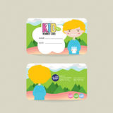 Front And Back VIP embroma la plantilla de la tarjeta del miembro libre illustration