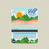 Front And Back VIP Member Card Template Natural Concept. Stock Image