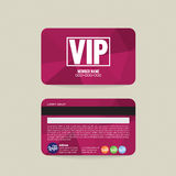 Front And Back VIP Member Card Template. Royalty Free Stock Photography