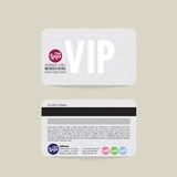 Front And Back VIP Member Card Template. Stock Photo