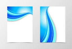 Front and back wave flyer template design Stock Photography