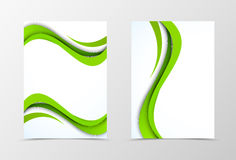 Front and back wave flyer template design Stock Photo