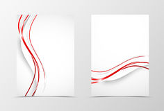 Front and back wave flyer template design Stock Images