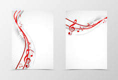 Front and back wave flyer template design Royalty Free Stock Photos