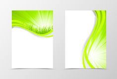 Front and back wavy flyer template design Stock Photography