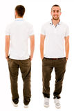 Front and back of a young casual man Royalty Free Stock Photo