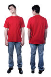 Front and back of young man standing Royalty Free Stock Photo