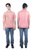 Front and back of young man standing Stock Photography