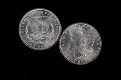 Front and backside of high quality Silver Dollar Stock Image