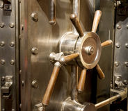Front of Bank Vault Massive Door Handle Combination Lock Dial Royalty Free Stock Photos