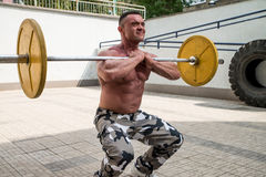 Front Barbell Squat Royalty Free Stock Image