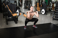 Front Barbell Squat Workout For Legs stock image