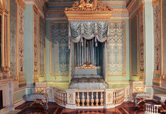 The front bedchamber Gatchina Palace. Visit the Gatchina Palace as part of a cultural forum in St. Petersburg Royalty Free Stock Images