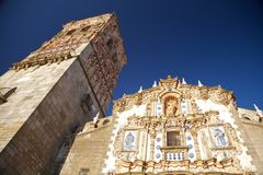 Front and belfry of church Royalty Free Stock Photography