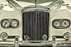 Front of a 1963 Bentley 2-Axle Rigid Body. DREMPT, THE NETHERLANDS - AUGUST 8, 2014: Front of a 1963 Bentley 2-Axle Rigid Body classic car in Drempt, The Stock Image