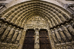 Front of the big church doors Royalty Free Stock Images