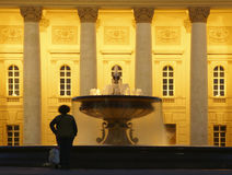 In front of the Big Theatre in Moscow. The Big Theatre and fountain in Moscow Stock Photography