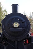The Front of a Black Steam Train Stock Image
