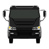 Front black truck Royalty Free Stock Photos