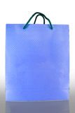 Front of blue paper Bag on reflect Stock Photography