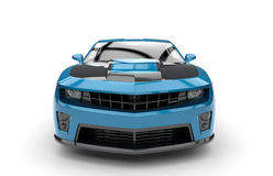 Front of a blue sport car Royalty Free Stock Photography