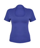 Front blue t-shirt on white Stock Photography