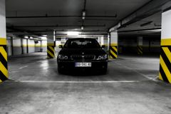 Front of BMW 750Li Royalty Free Stock Photo