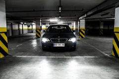 Front of BMW 750Li Stock Photography