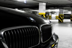 Front of BMW 750Li Royalty Free Stock Photo