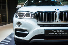 Front of BMW X6 at the Singapore Motorshow 2015 Royalty Free Stock Photo