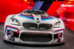 Front BMWs M6 GT3 lizenzfreies stockfoto