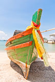 Front of the boat made ​​of wood Royalty Free Stock Photography