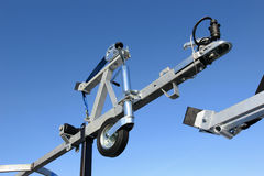 Front of a boat trailer. Stock Image