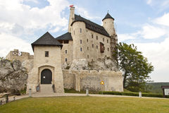 Front of Bobolice castle - Poland, Silesia. Stock Photos