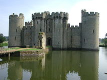 Front of Bodium Castle. With a view of the entrance Royalty Free Stock Photos