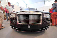 Front bonnet of the Rolls Royce Wraith on display during Singapore Yacht Show at One Degree 15 Marina Club Sentosa Cove Stock Photo
