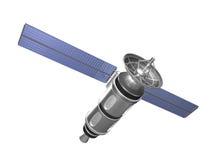 Front bottom view satellite vector illustration