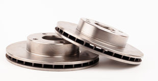 Front brake disks and pads for a  car Stock Photo