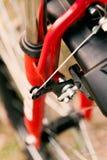 Front brake of mountain bicycle. Royalty Free Stock Image