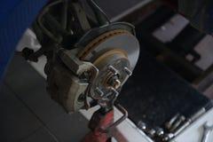 Front brakes front wheel hub bearing ABS brakes.  stock images
