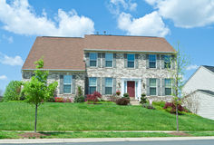 Front Brick Single Family House Home Suburban MD Stock Images