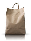 Front Brown Crumpled peper bag. Front of  Brown Crumpled peper Bag form the market Royalty Free Stock Image